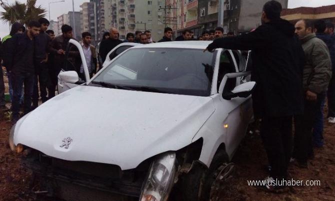 Mardin Kızıltepe'de trafik kazası: TIR ile otomobil çarpıştı