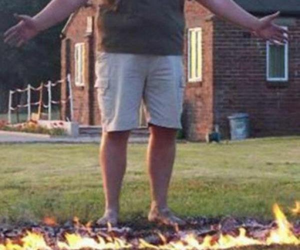 Ateş Üstünde Yürüme Rekoru